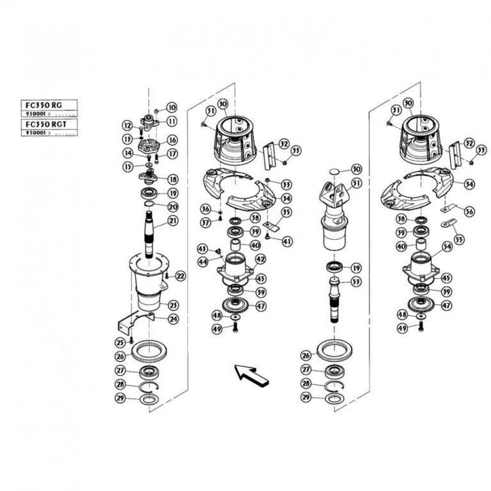 07 Schijven, buiten passend voor KUHN FC350RG