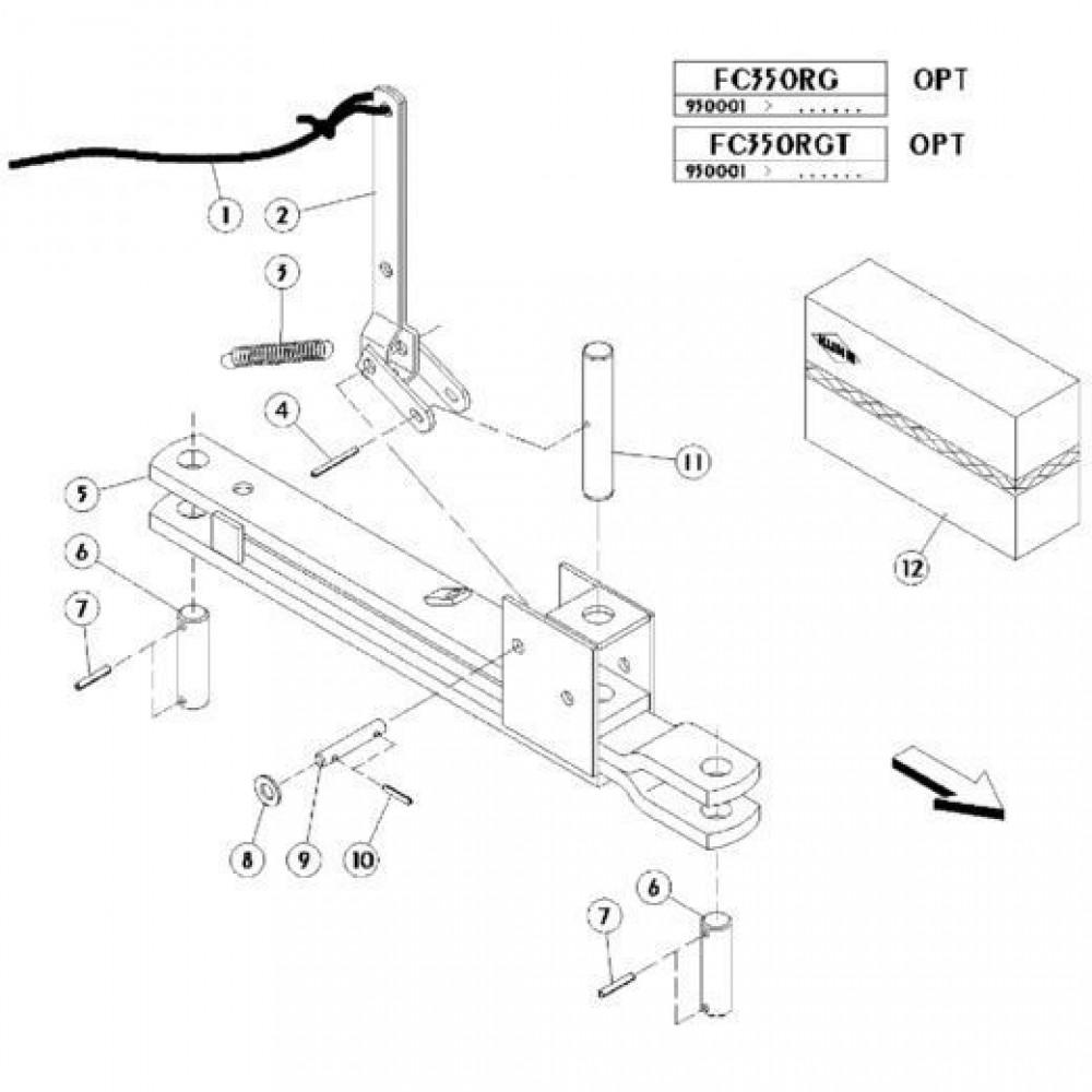 22 Mechanische vergrendelingsvoorziening passend voor KUHN FC350RG