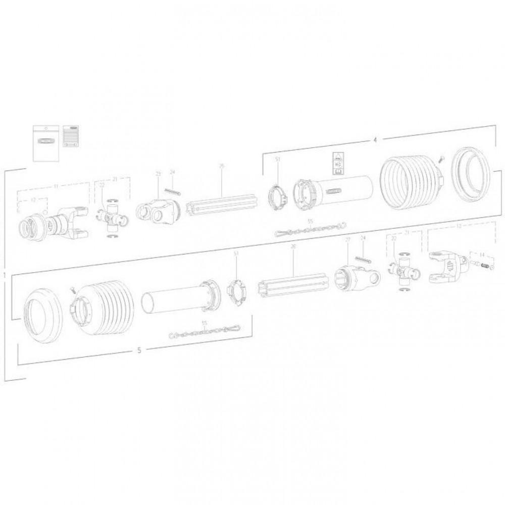 24 Transmissie 1 passend voor KUHN FC350RG
