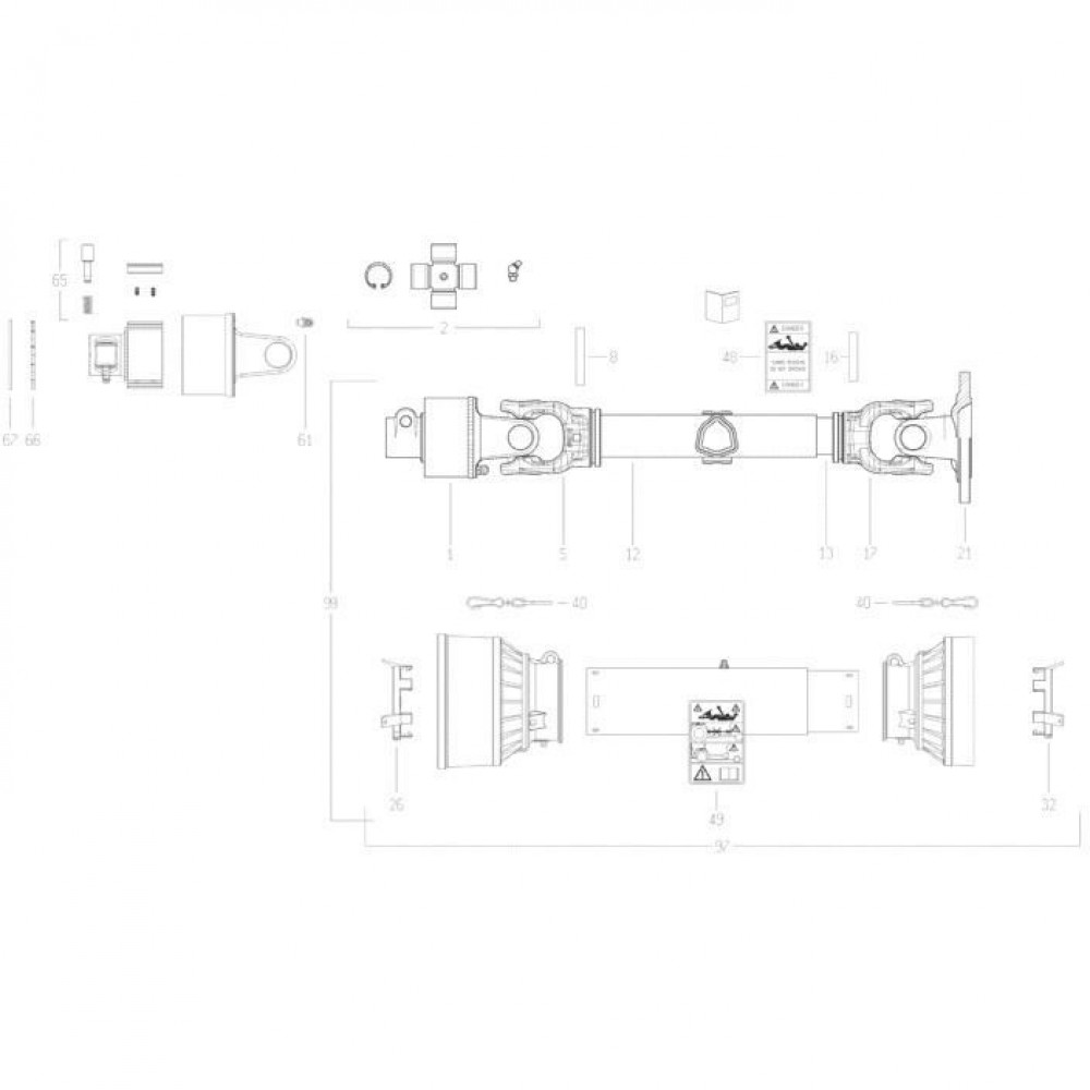 26 Transmissie 3 passend voor KUHN FC350RG