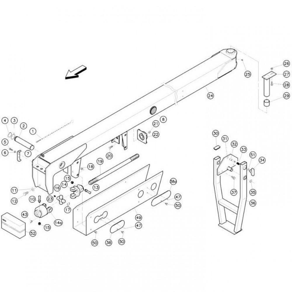 02 Koppeling, trekstang passend voor KUHN FC350RG