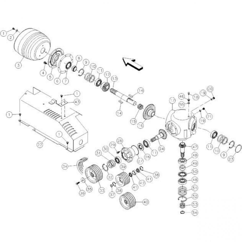07 Haakse tandwielkast passend voor KUHN FC350RG