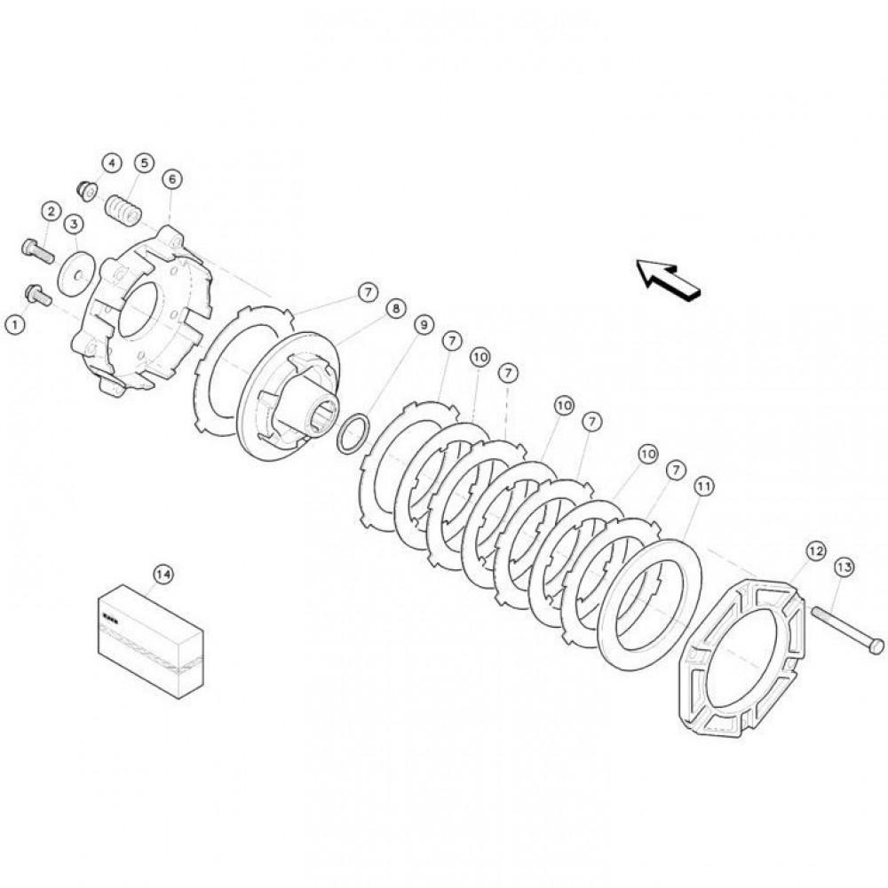 10 Koppelbegrenzende koppeling passend voor KUHN FC350RG