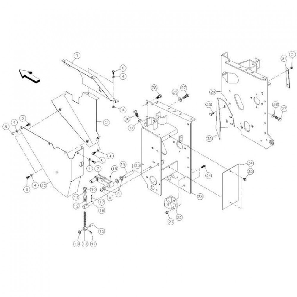 12 Zijplaten passend voor KUHN FC350RG