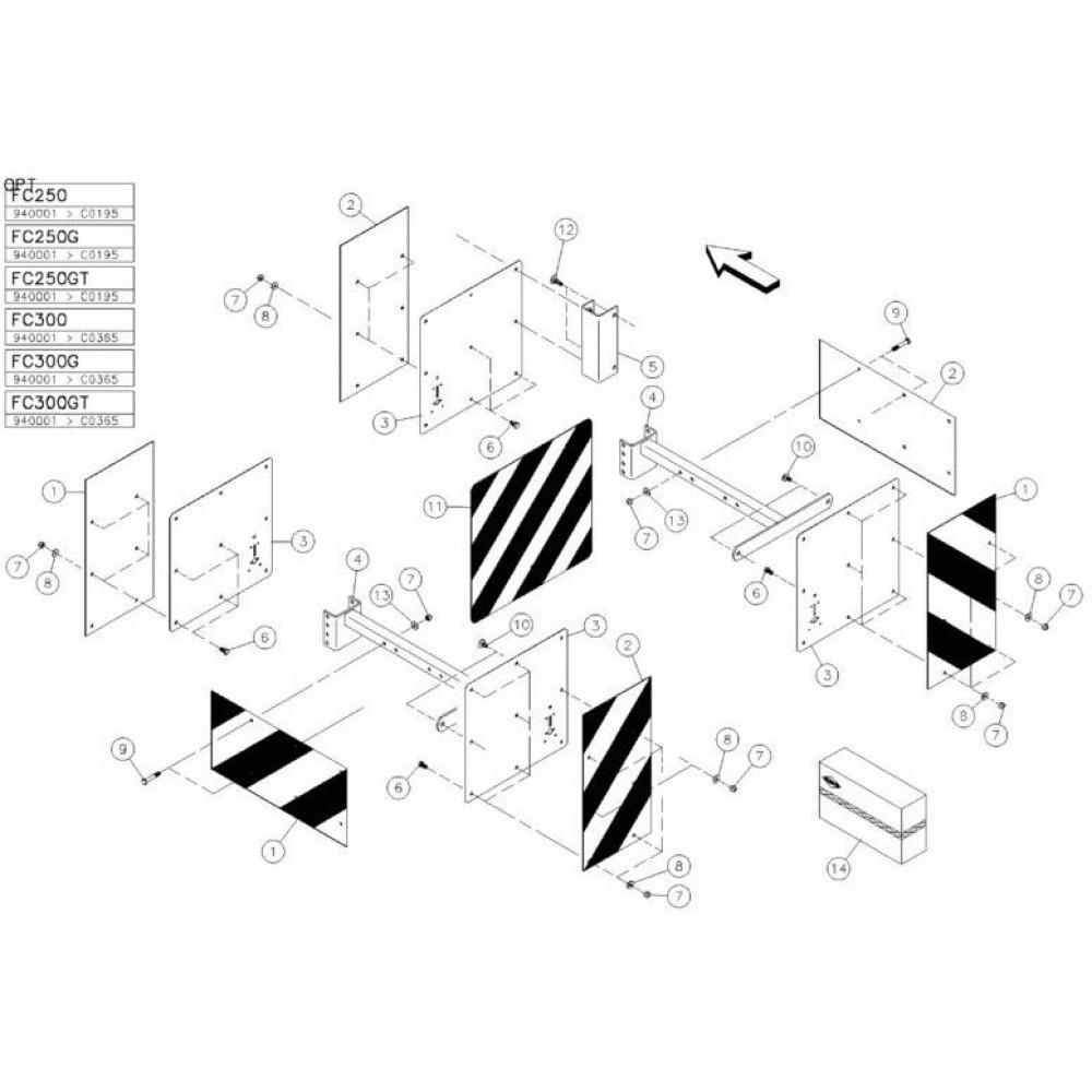 20 Verlichting 2 passend voor KUHN FC350RG
