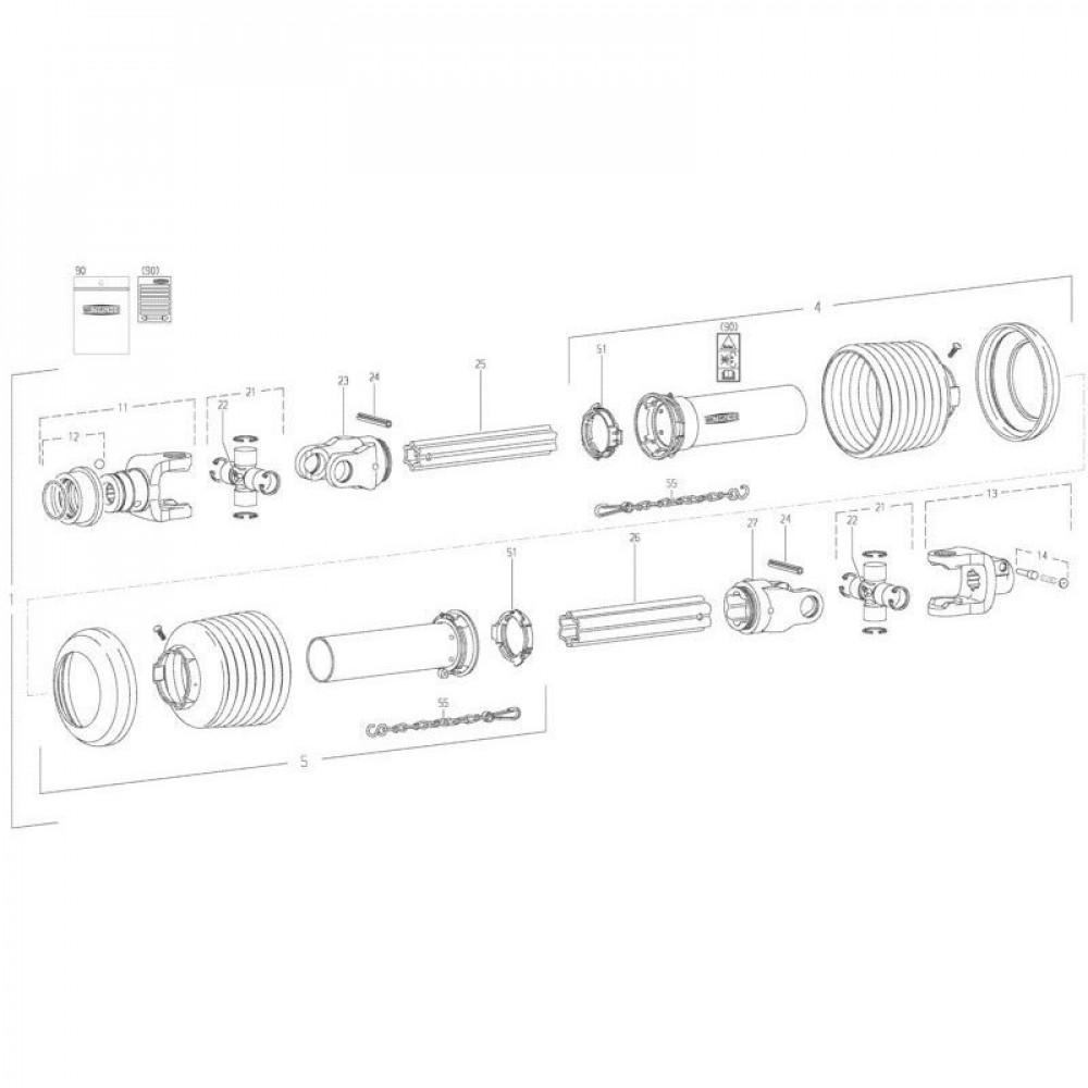 26 Transmissie 2 passend voor KUHN FC350RG