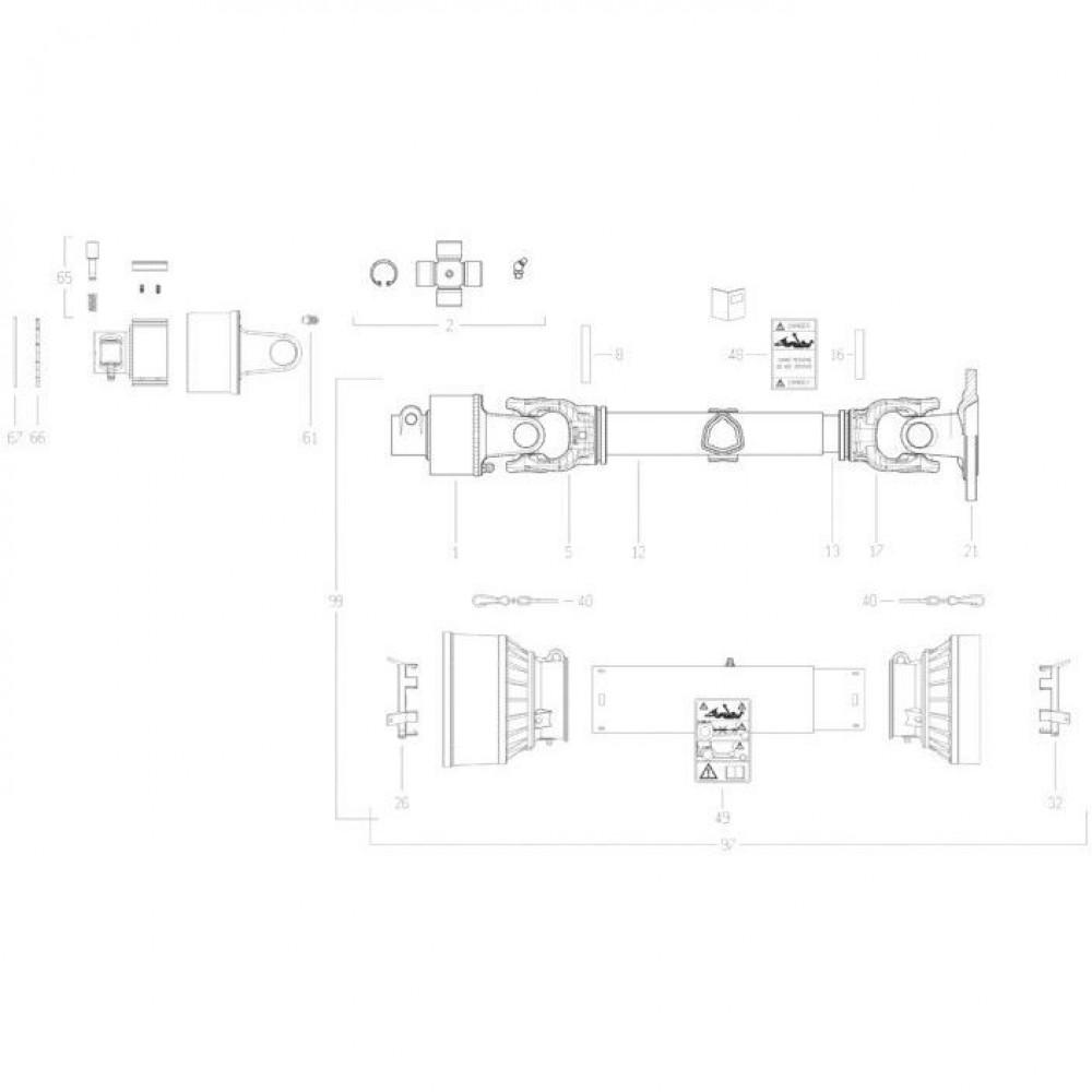 27 Transmissie 3 passend voor KUHN FC350RG