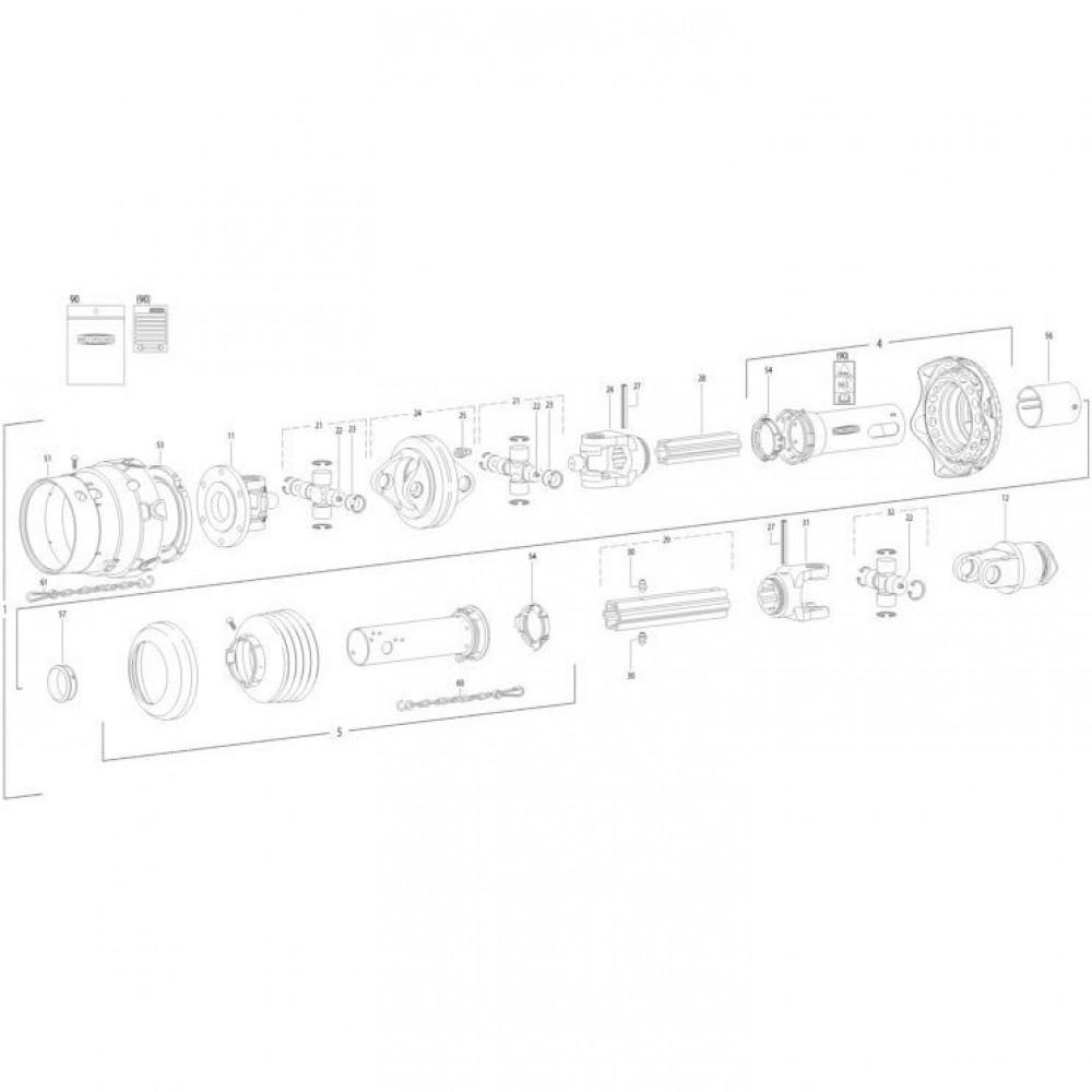 28 Transmissie 4 passend voor KUHN FC350RG