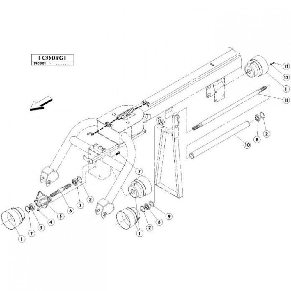 02 Gyrotrans aandrijving passend voor KUHN FC350RGT