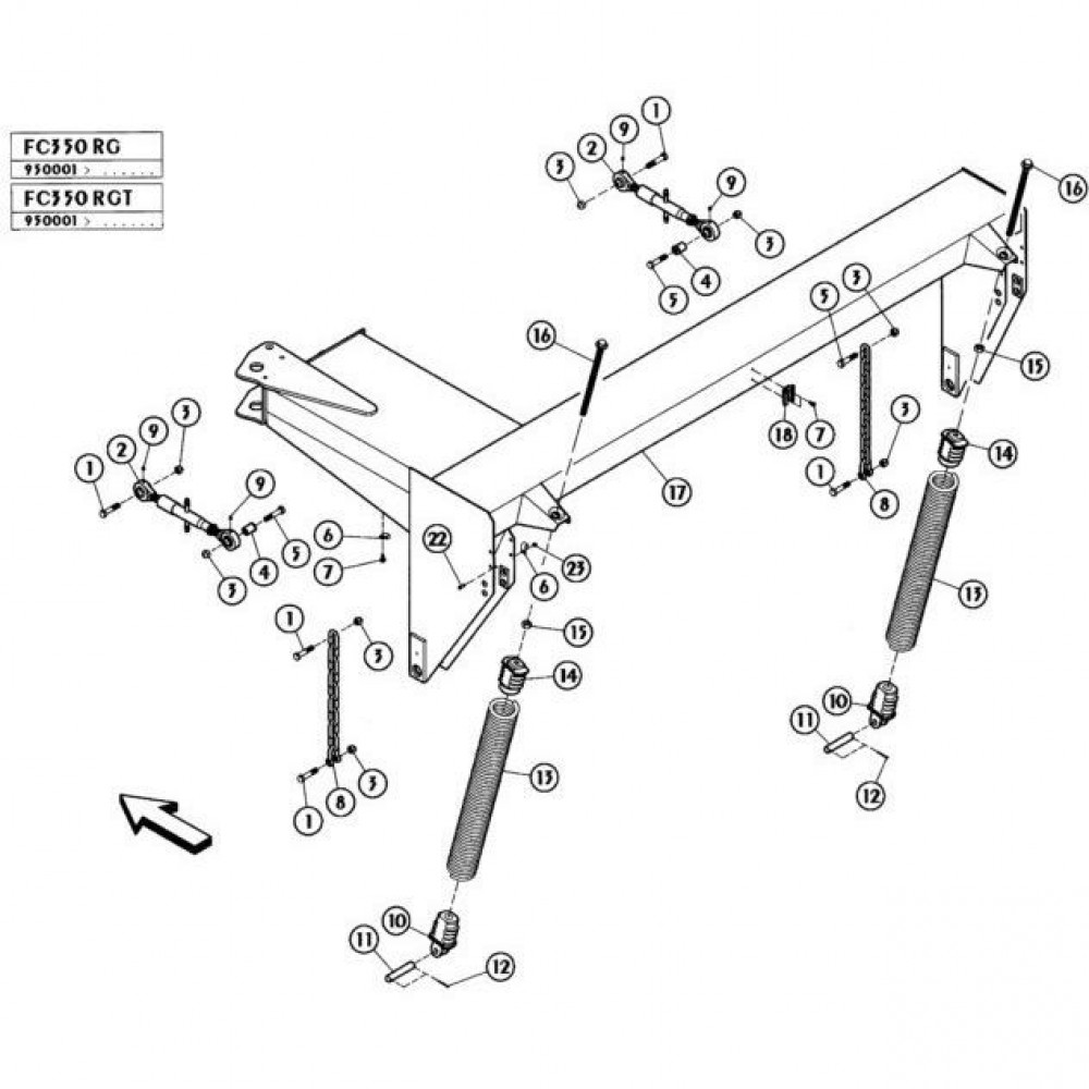 03 Frame passend voor KUHN FC350RGT