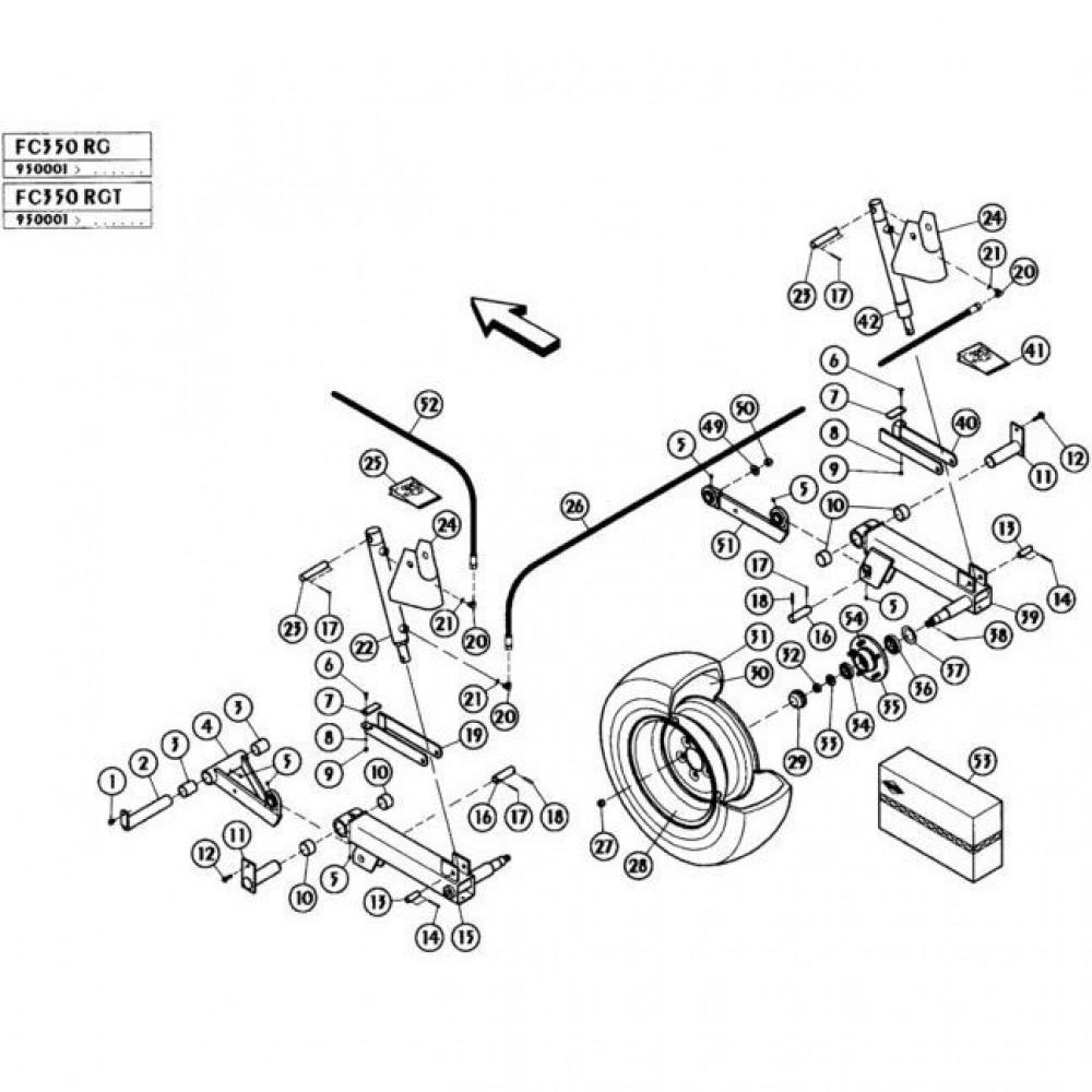 04 Hefmechanisme passend voor KUHN FC350RGT