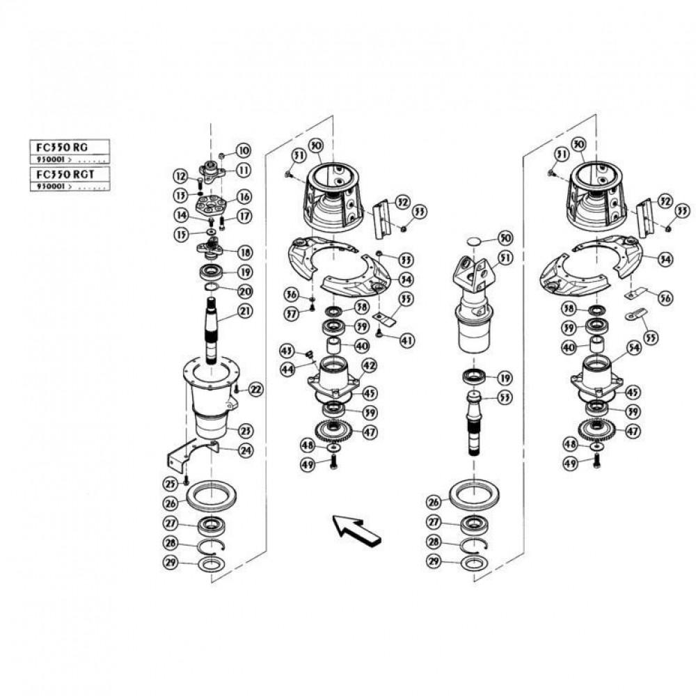06 Schijven, buiten passend voor KUHN FC350RGT