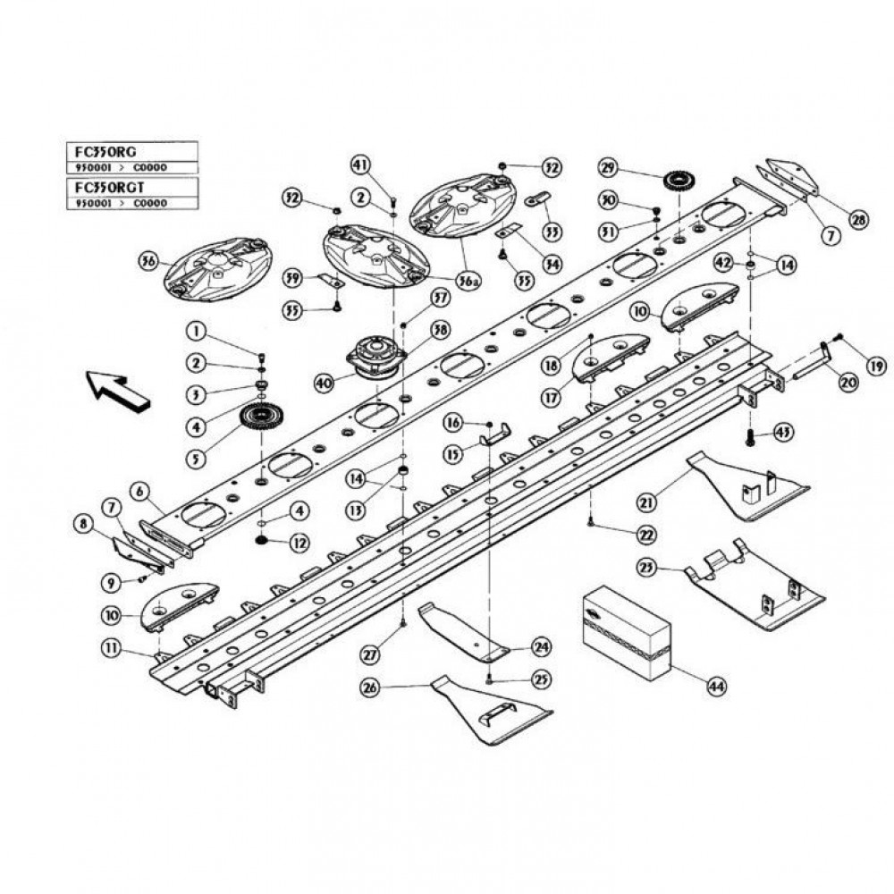07 Maaibalk 1 passend voor KUHN FC350RGT