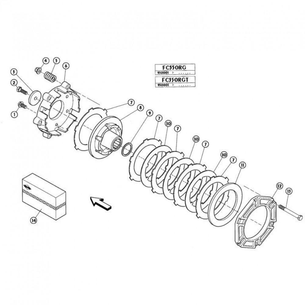 09 Koppelbegrenzende koppeling passend voor KUHN FC350RGT
