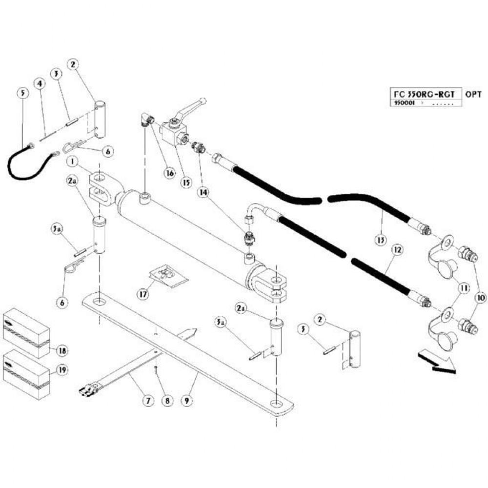 17 Hydraulische cilinder passend voor KUHN FC350RGT