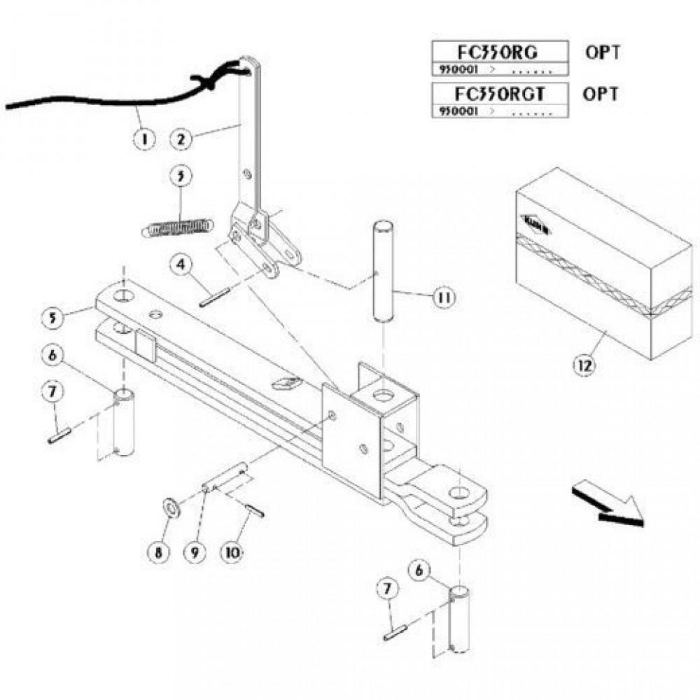 22 Mechanische vergrendelingsvoorziening passend voor KUHN FC350RGT