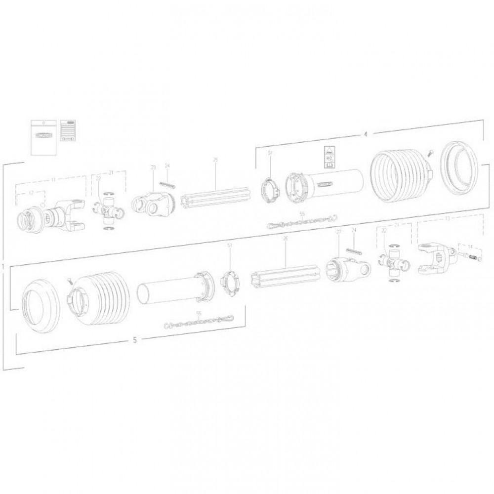 25 Transmissie 1 passend voor KUHN FC350RGT