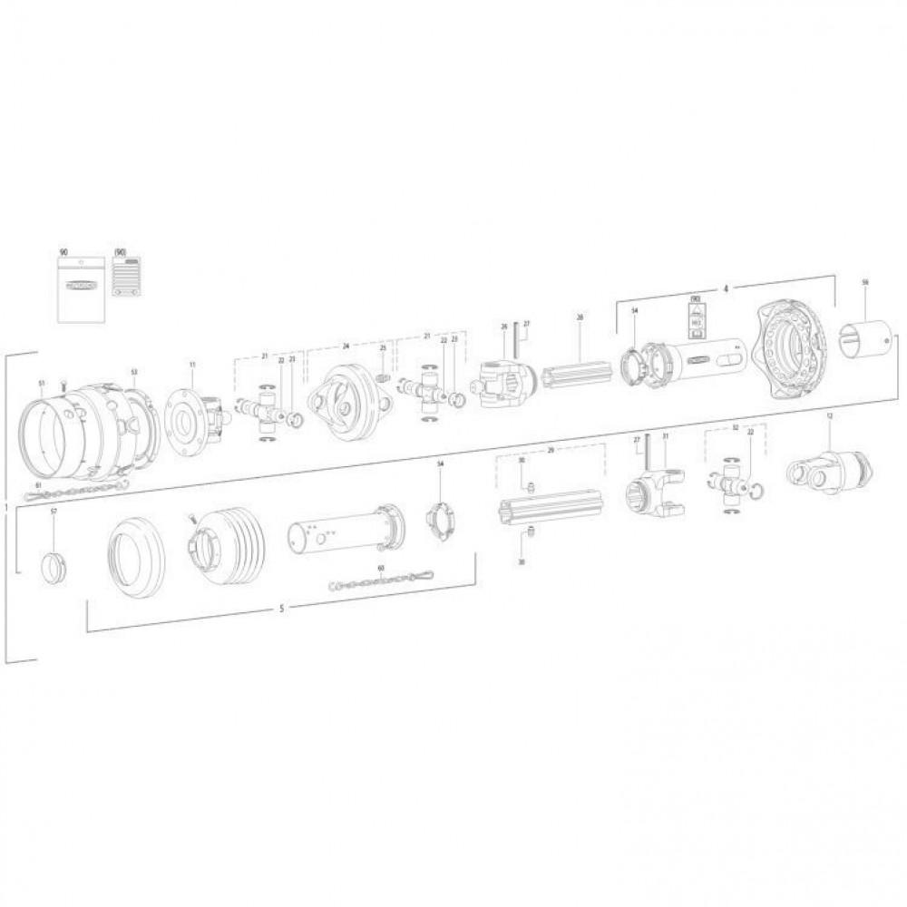 29 Transmissie 4 passend voor KUHN FC350RGT