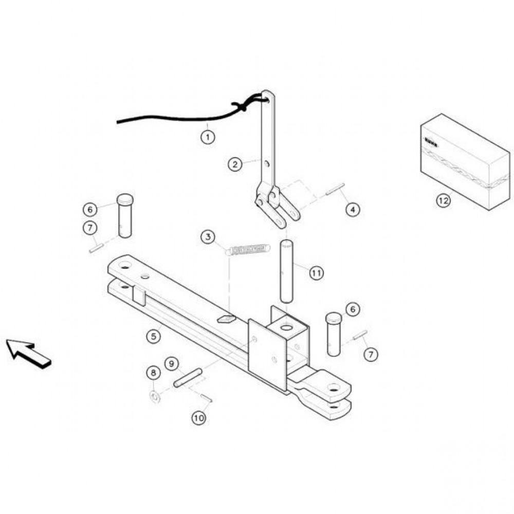 22 Mechanische vergrendelingsvoorziening passend voor KUHN FC352G
