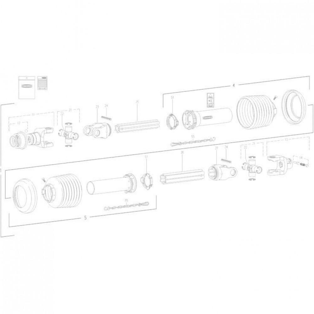 27 Transmissie 1 passend voor KUHN FC352G
