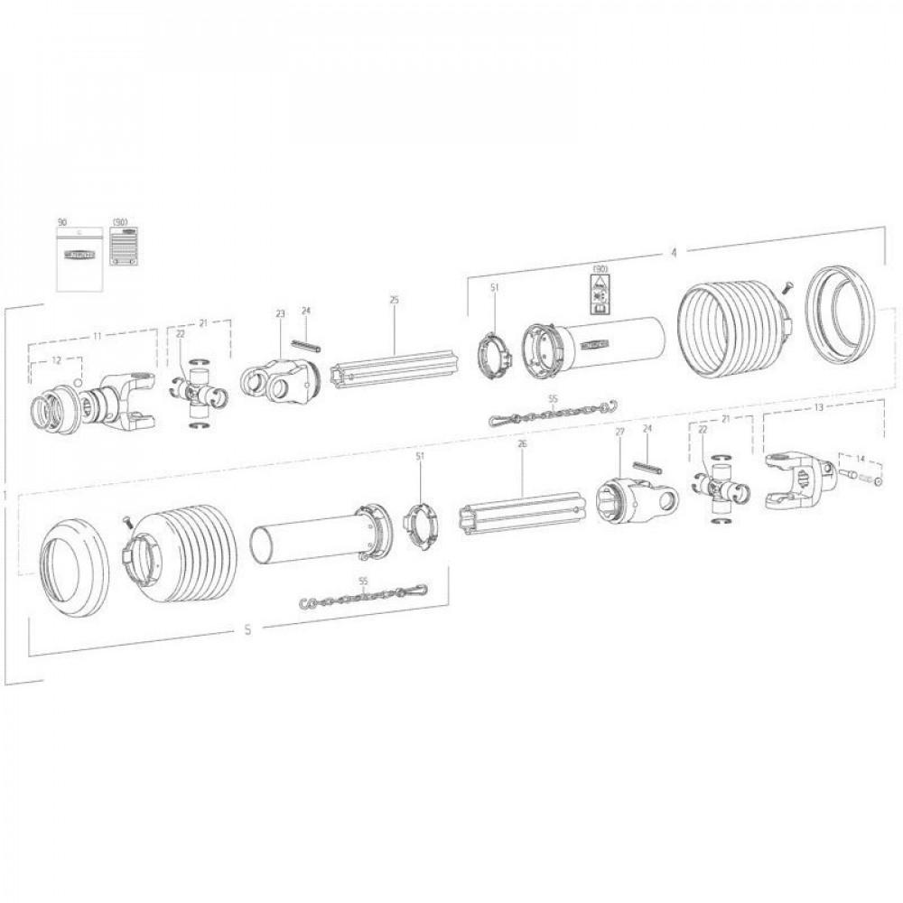 28 Transmissie 2 passend voor KUHN FC352G