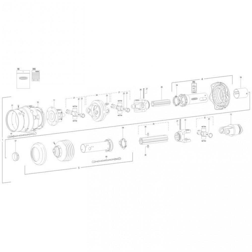 31 Transmissie 5 passend voor KUHN FC352G