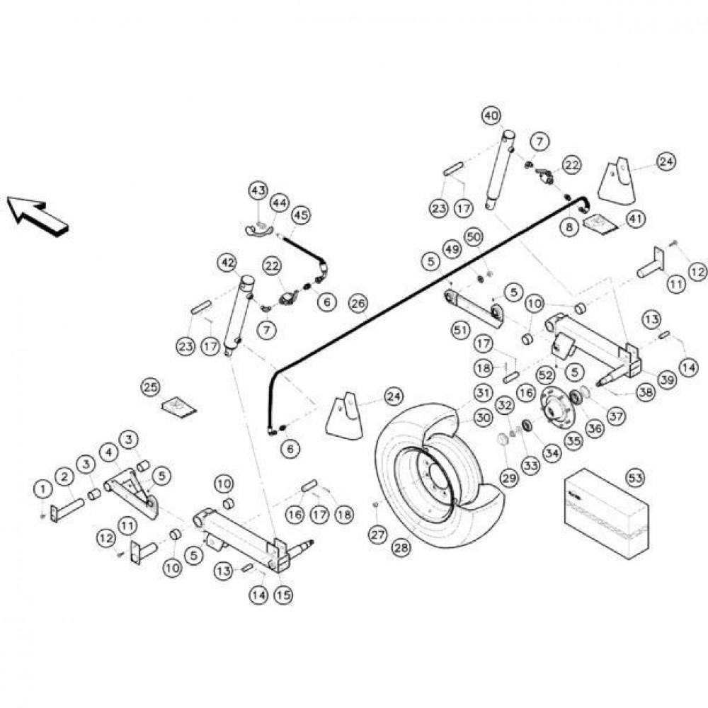 08 Hefmechanisme 1 passend voor KUHN FC352G