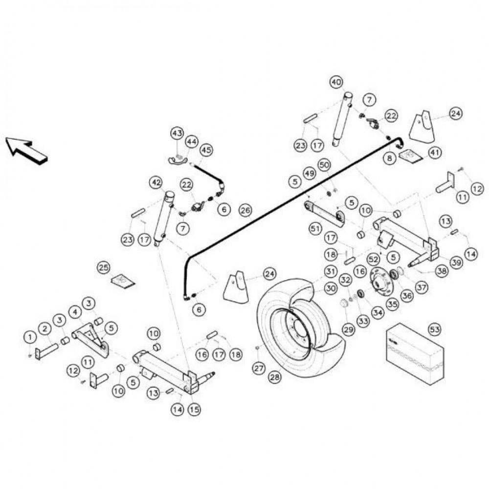 09 Hefmechanisme 2 passend voor KUHN FC352G