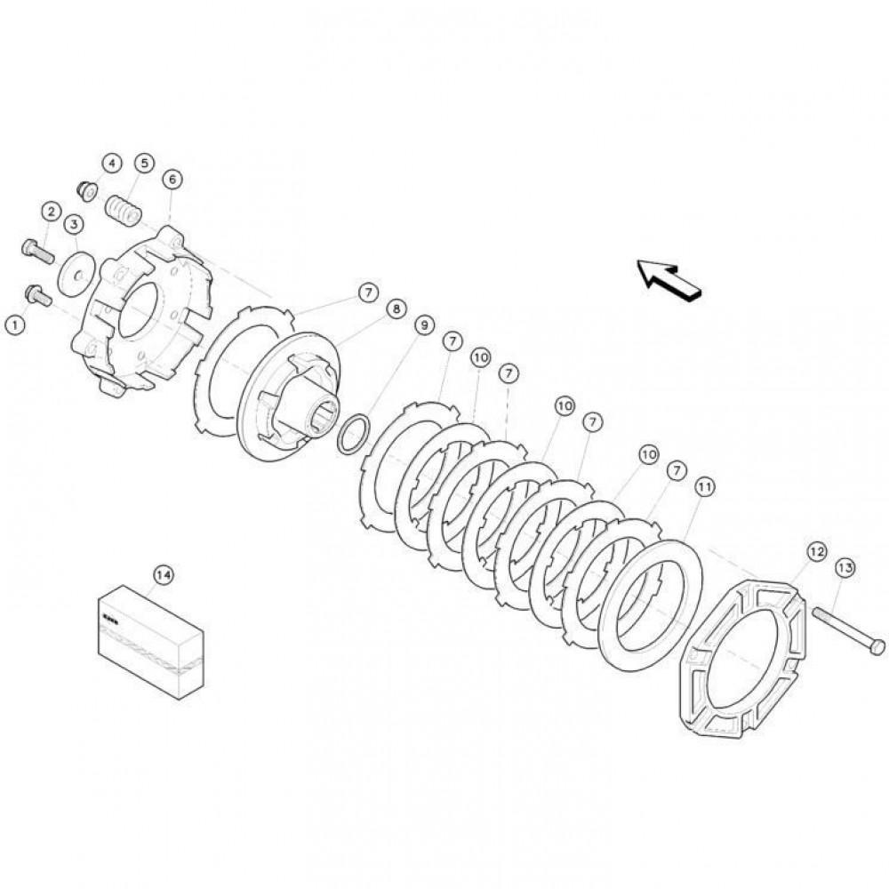 13 Koppelbegrenzende koppeling passend voor KUHN FC352G