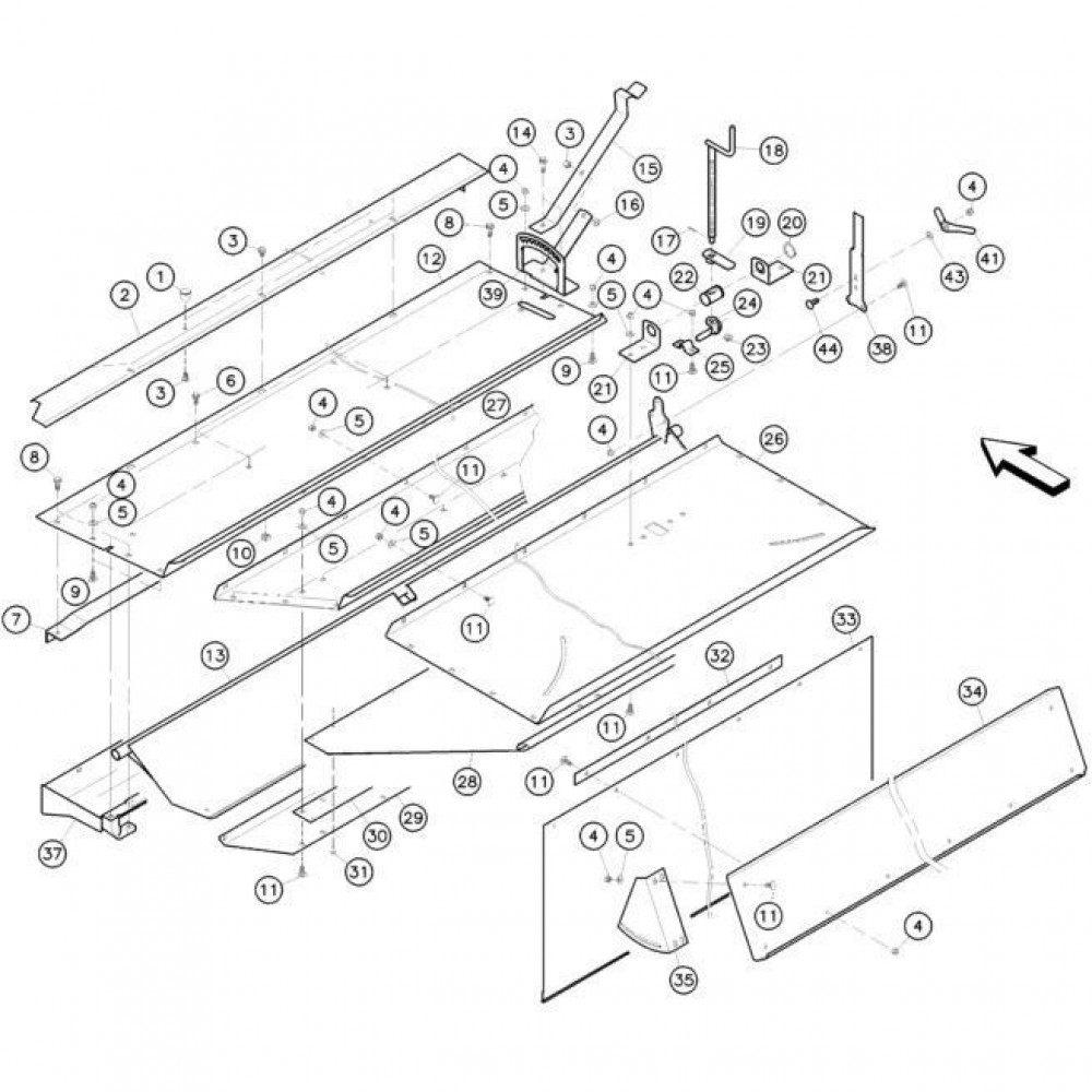 18 Conditioner kap passend voor KUHN FC352G