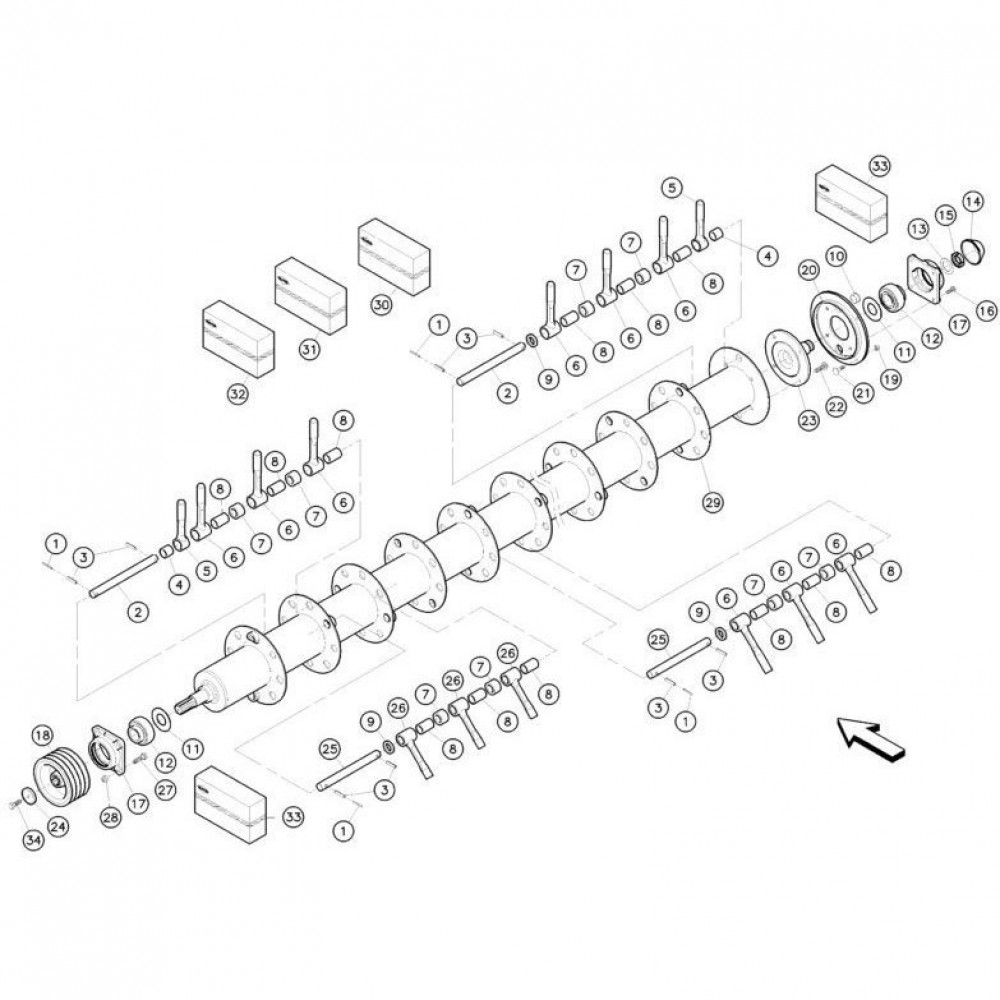 24 Vingerrotor passend voor KUHN FC352G