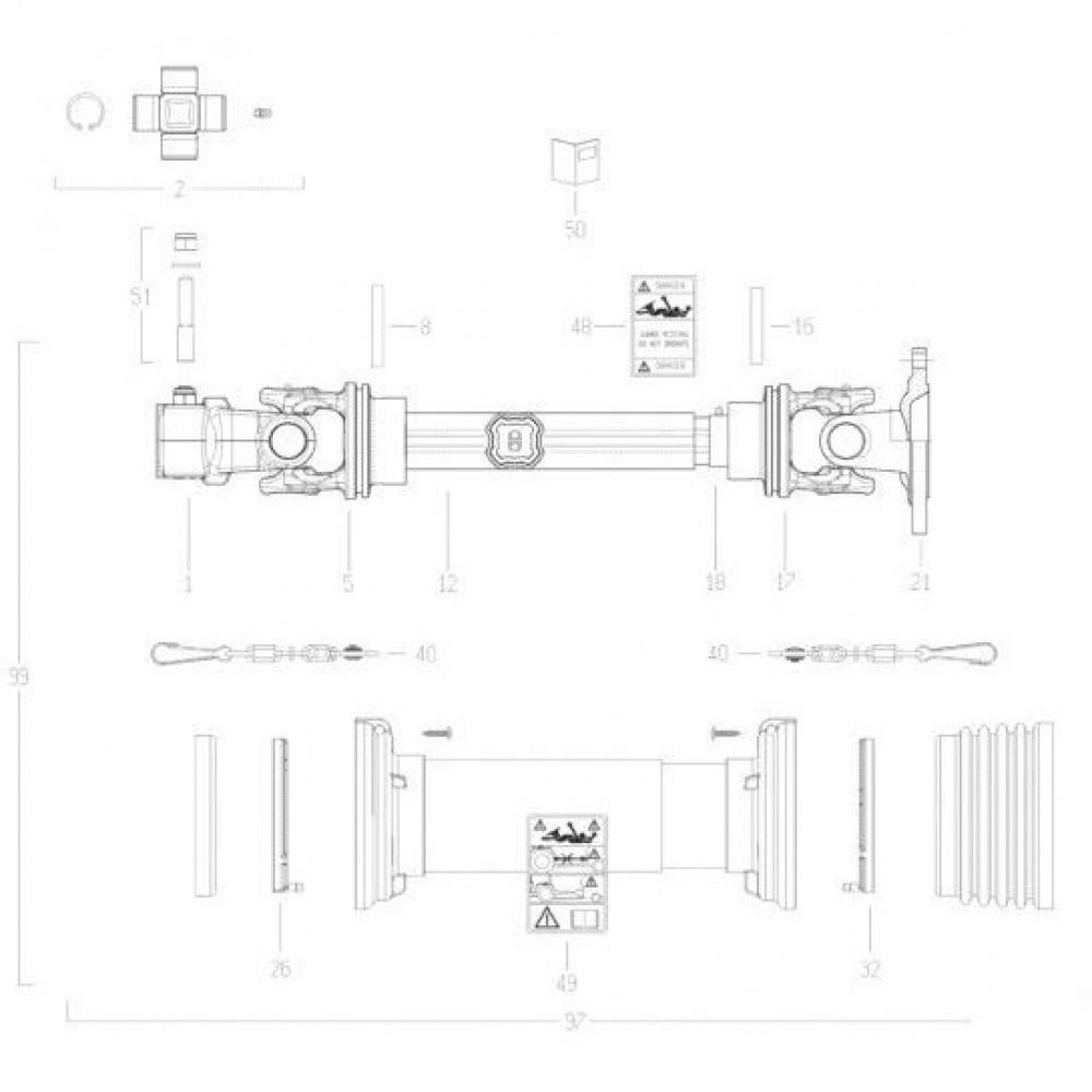 38 Transmissie 3 passend voor KUHN FC352G