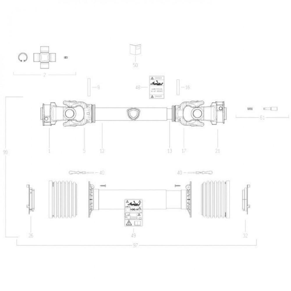 41 Transmissie 6 passend voor KUHN FC352G