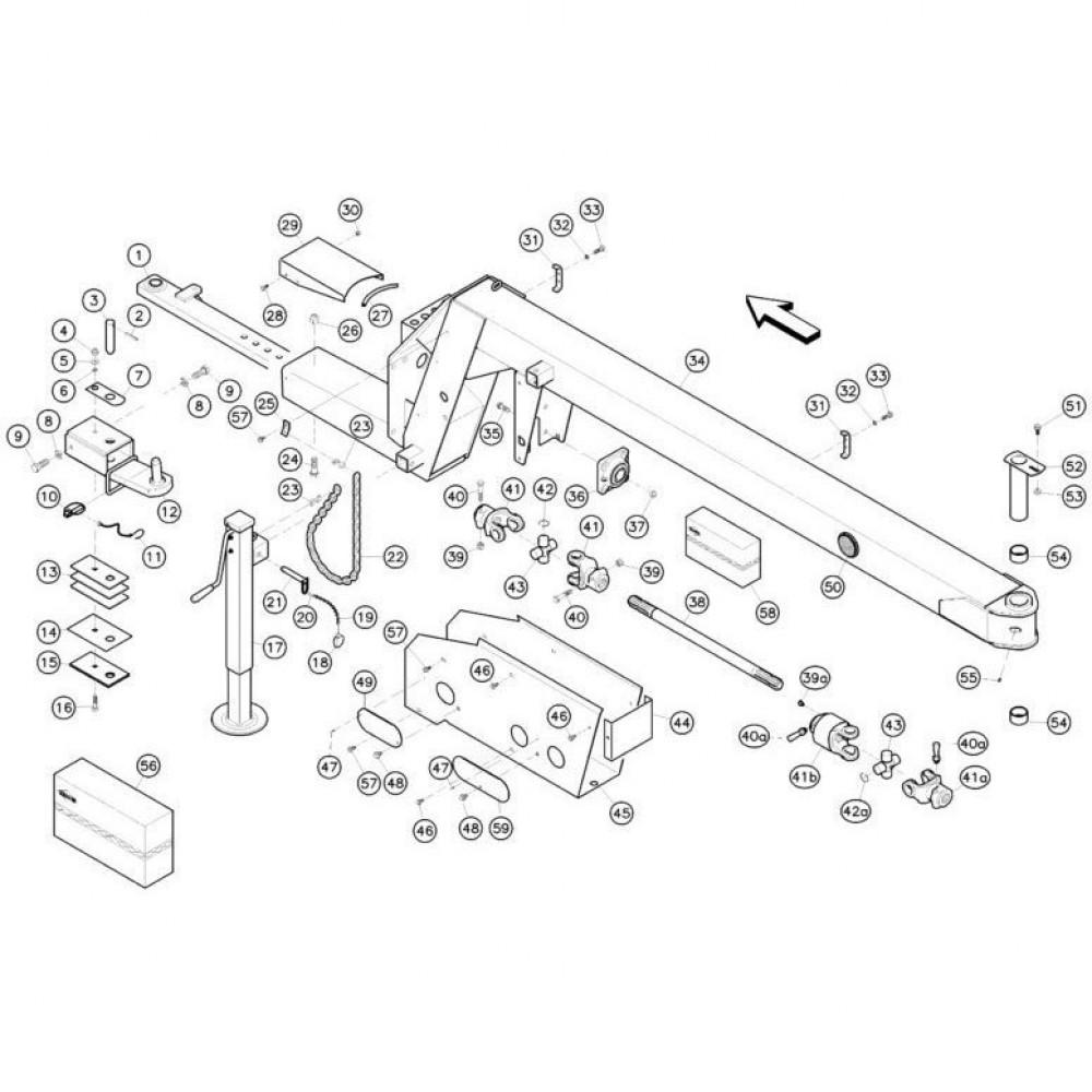 01 Koppeling, trekstang passend voor KUHN FC352MN