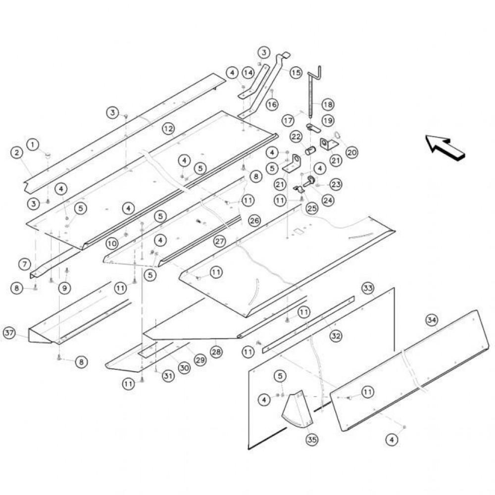11 Conditioner kap 1 passend voor KUHN FC352MN