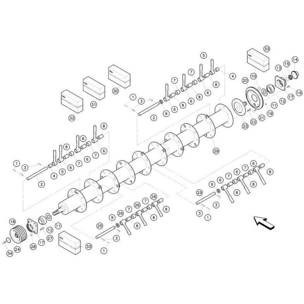 17 Vingerrotor passend voor KUHN FC352MN