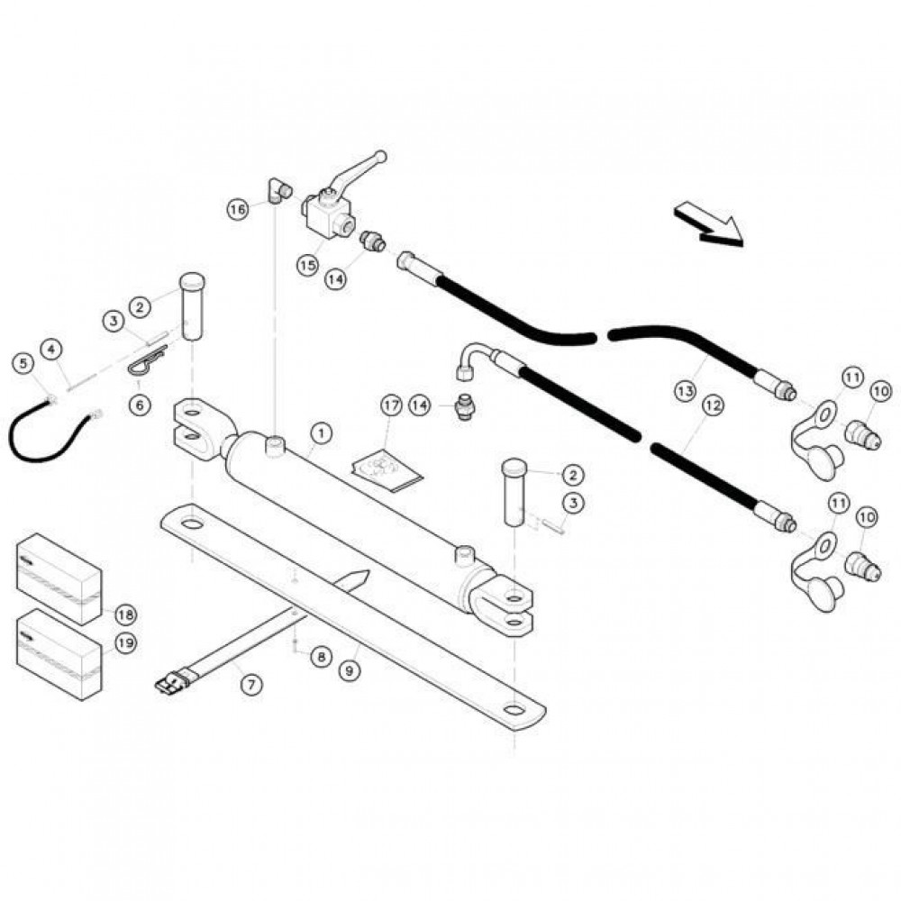 19 Hydrauliekcilinders passend voor KUHN FC352MN
