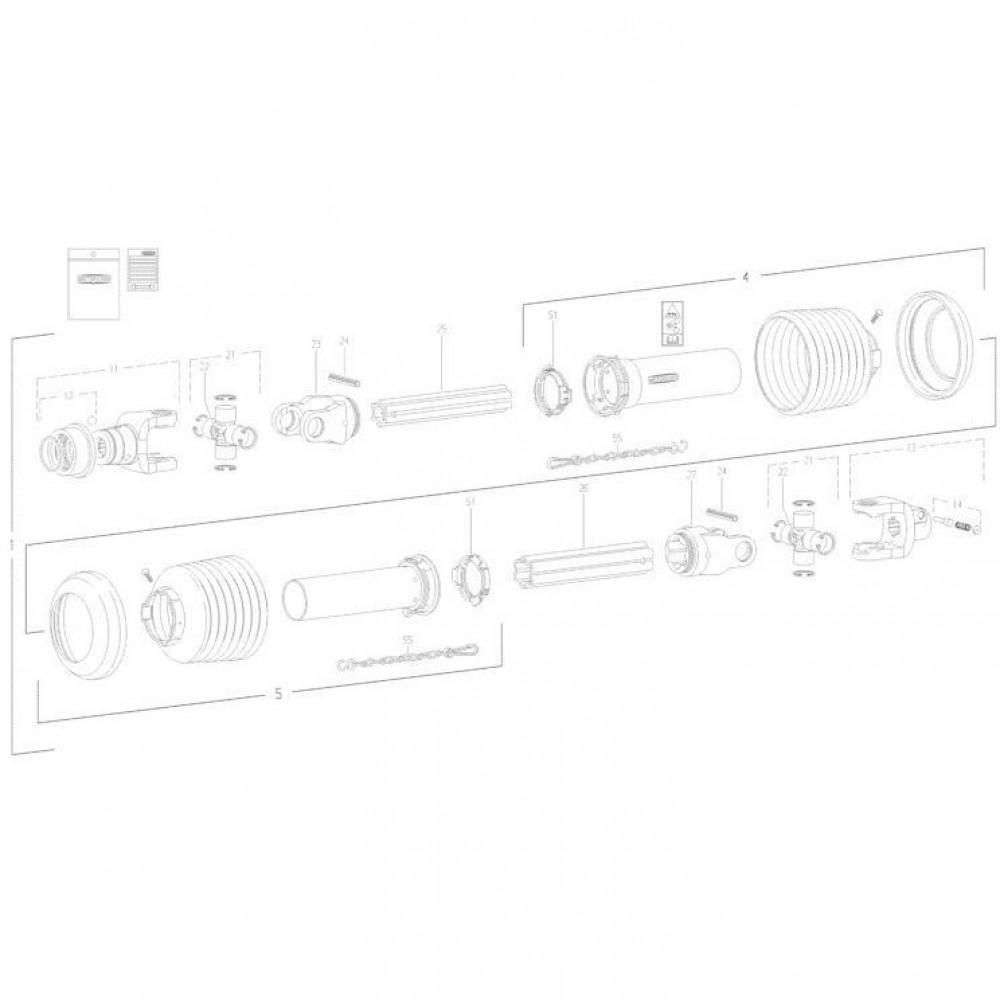25 Transmissie 1 passend voor KUHN FC352MN