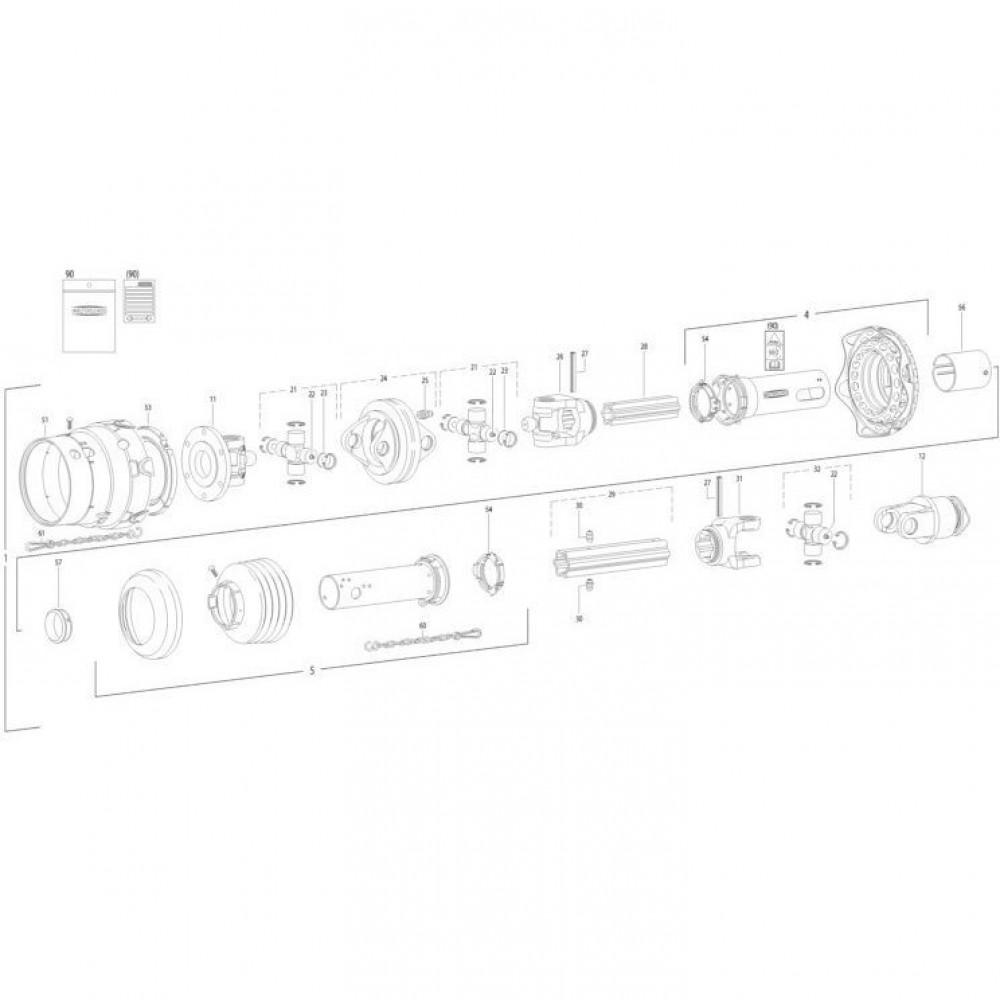 27 Transmissie 3 passend voor KUHN FC352MN