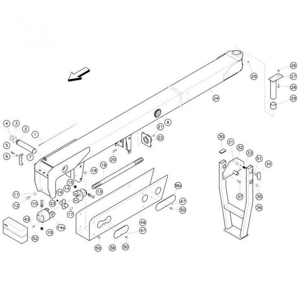 02 Koppeling, trekstang passend voor KUHN FC352RG