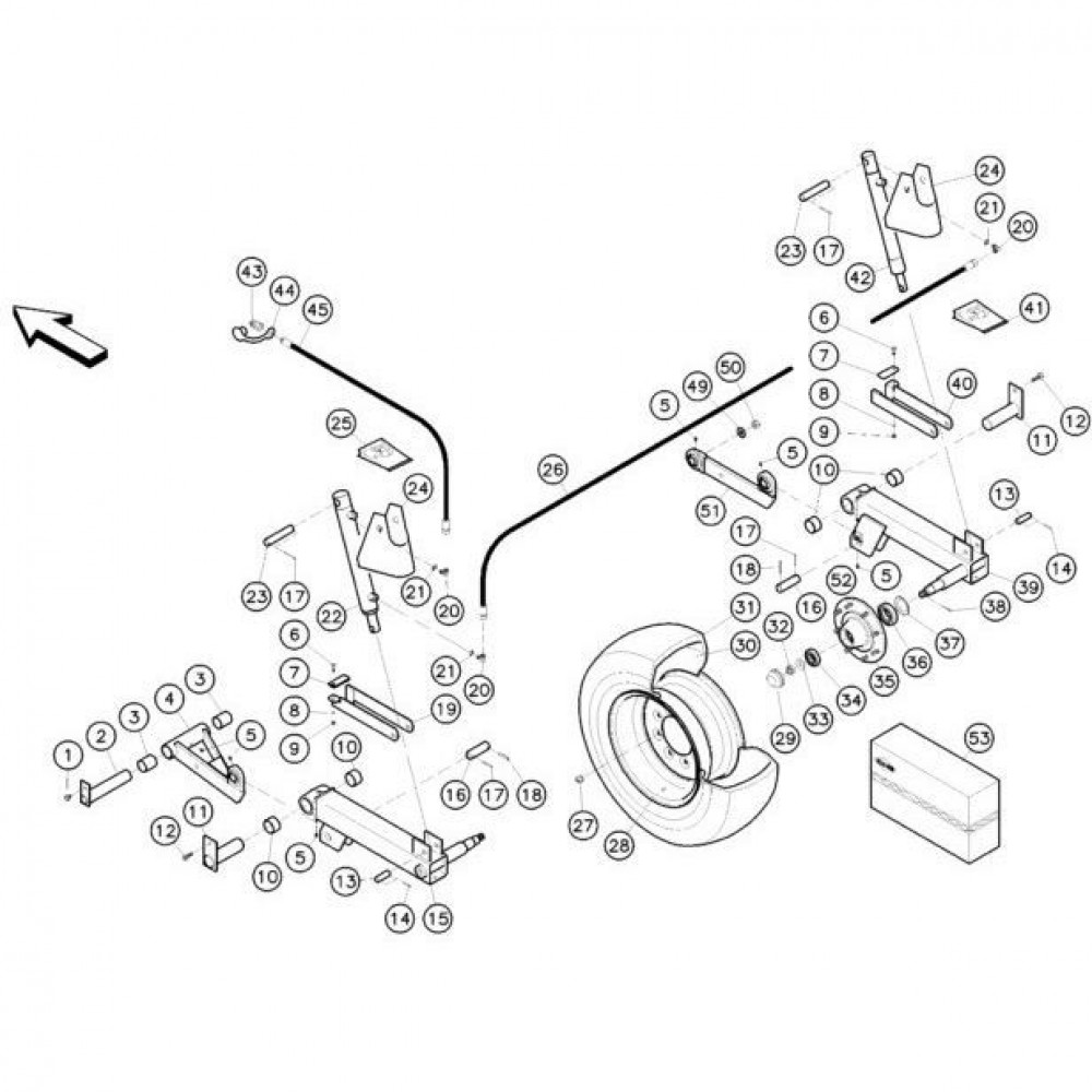 08 Hefmechanisme 1 passend voor KUHN FC352RG