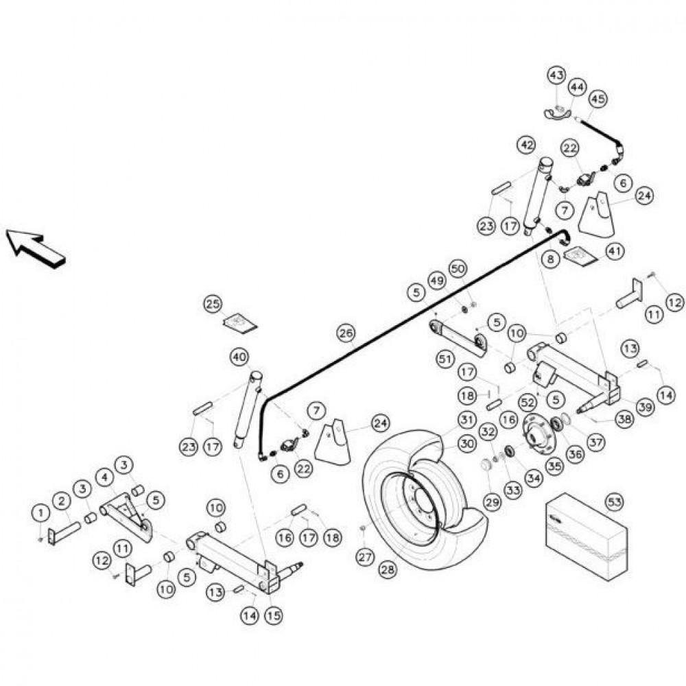 09 Hefmechanisme 2 passend voor KUHN FC352RG