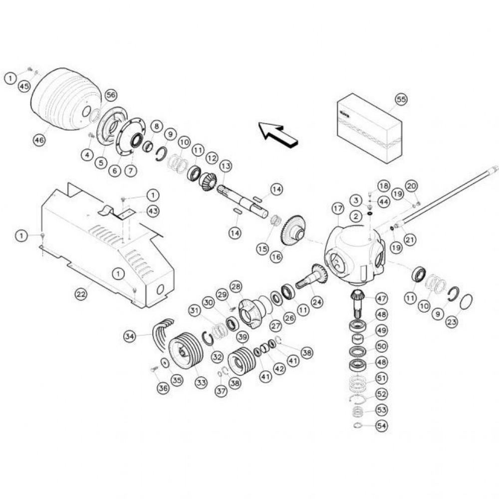 10 Haakse tandwielkast passend voor KUHN FC352RG
