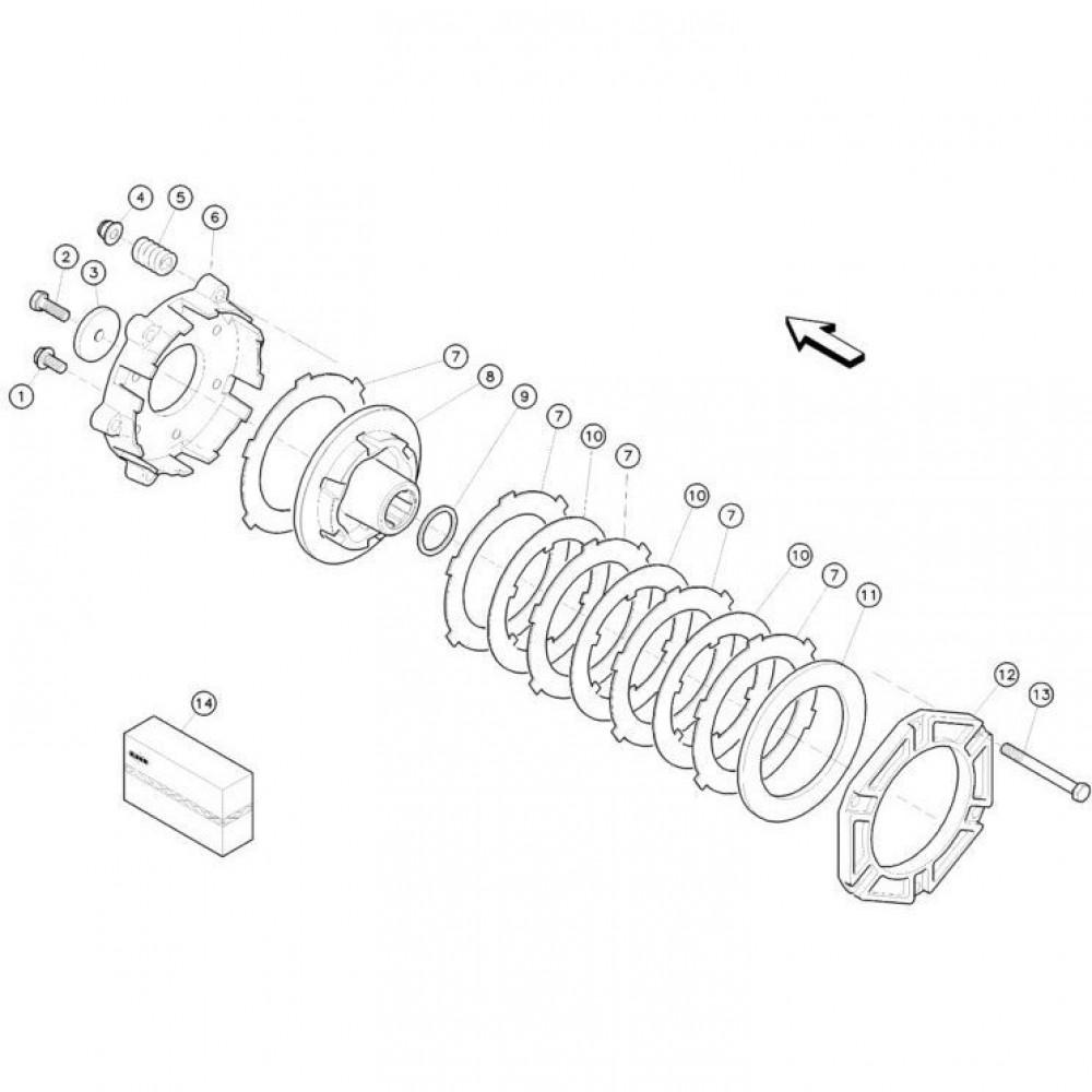 13 Koppelbegrenzende koppeling passend voor KUHN FC352RG