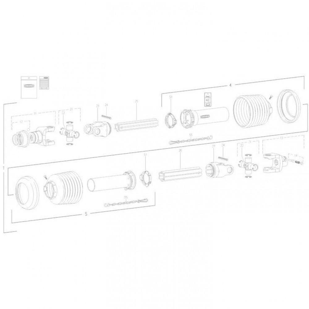 30 Transmissie 1 passend voor KUHN FC352RG