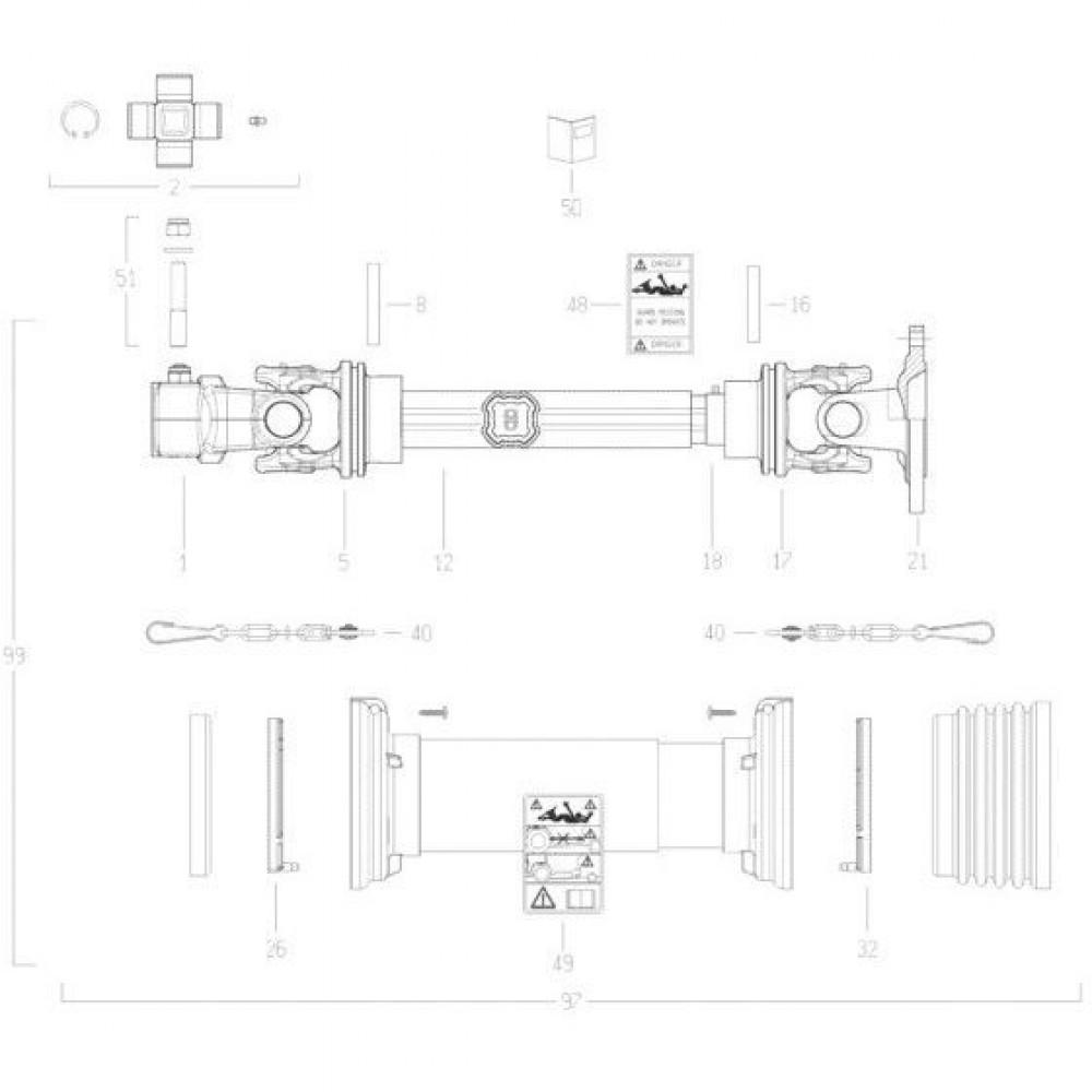 33 Transmissie 4 passend voor KUHN FC352RG