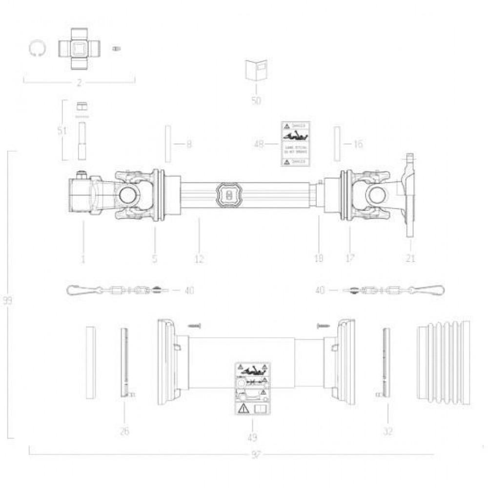 34 Transmissie 5 passend voor KUHN FC352RG