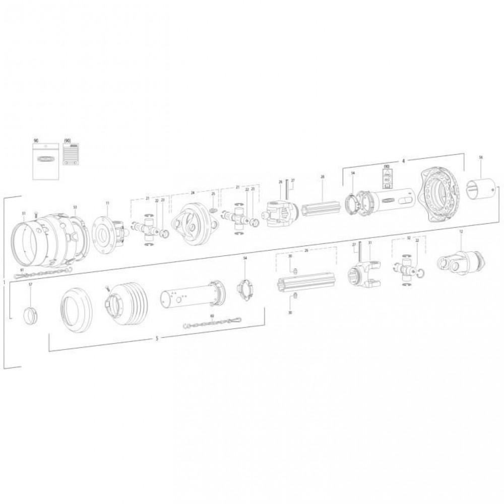 35 Transmissie 6 passend voor KUHN FC352RG