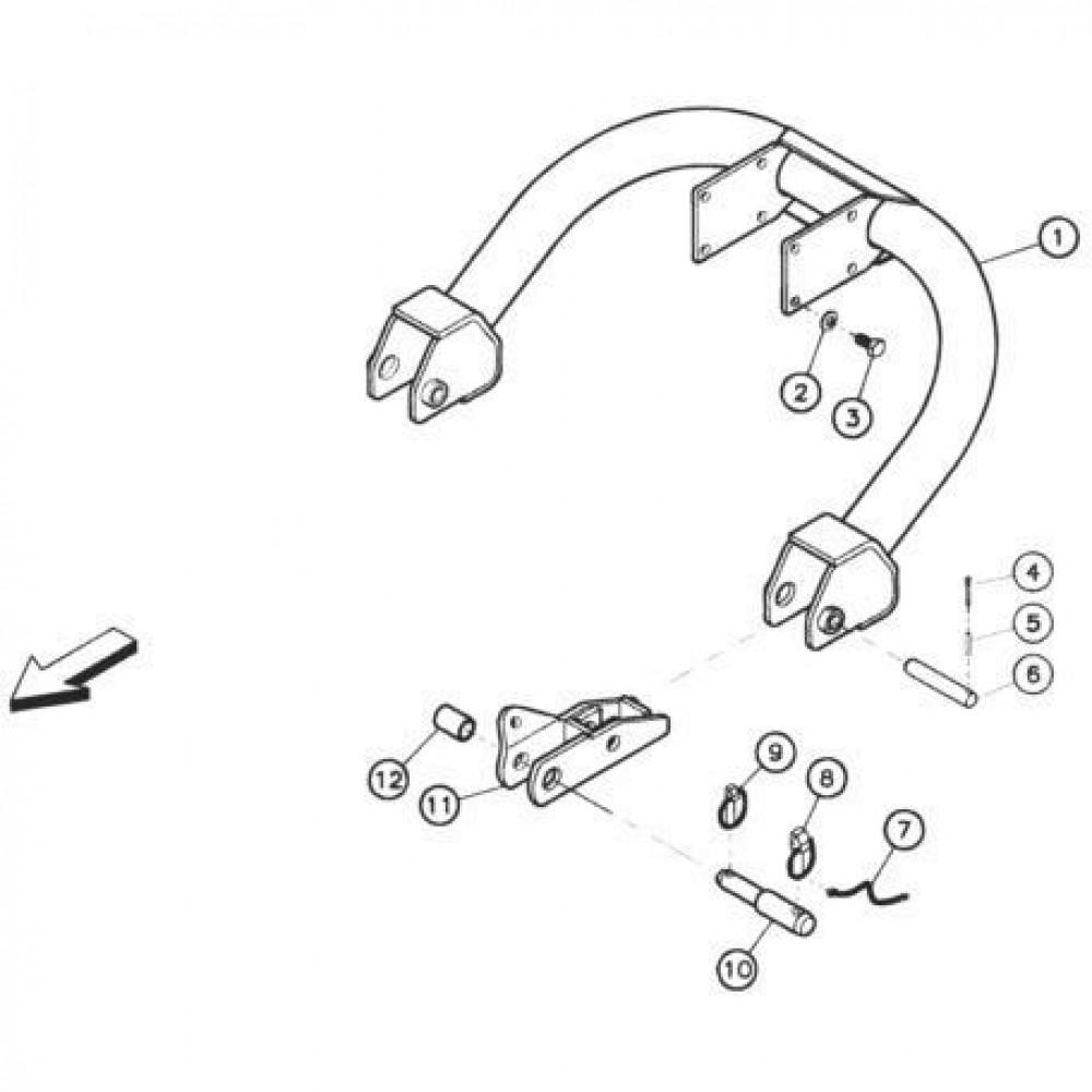 01 Verbindingsbuis 1 passend voor KUHN FC352RG 2