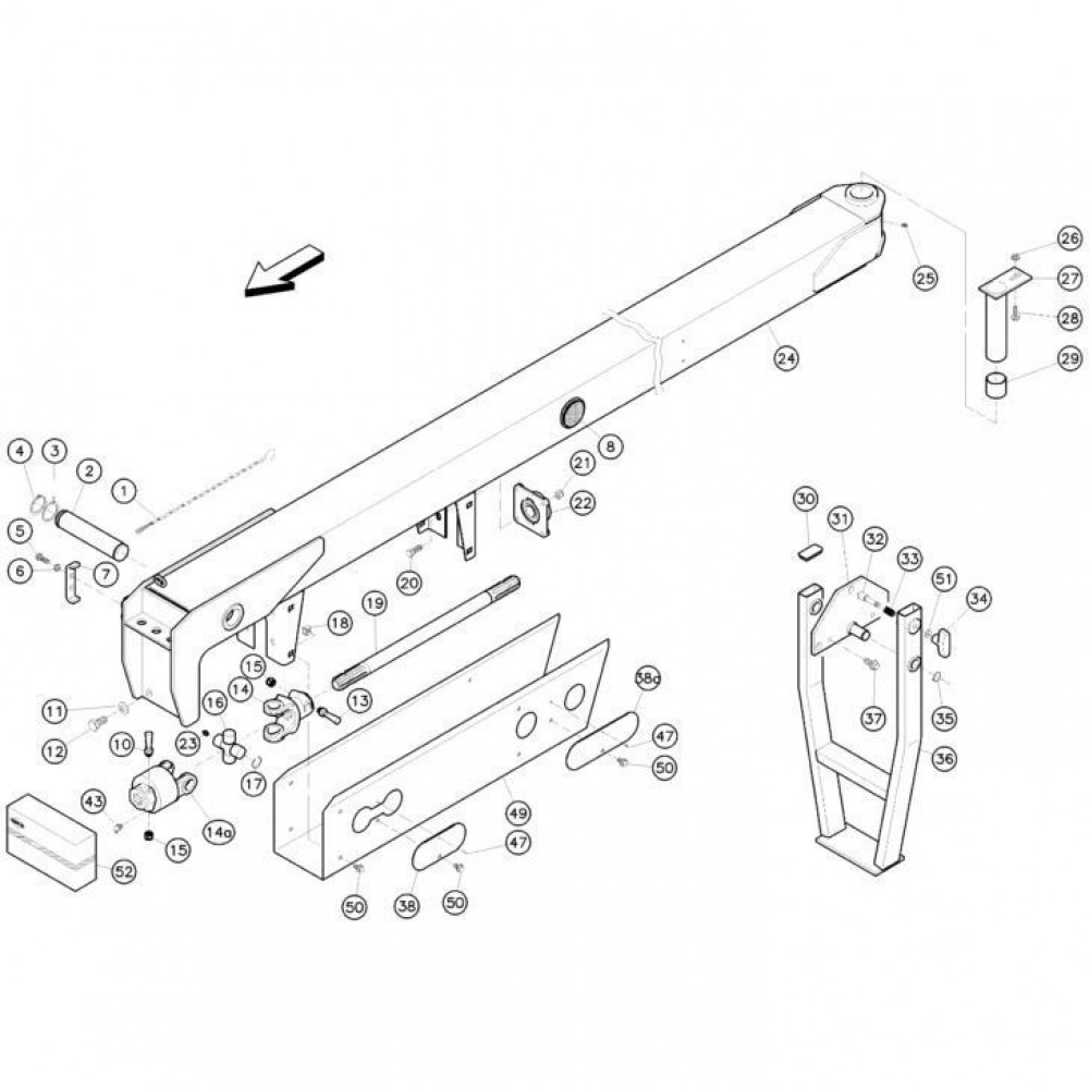 02 Koppeling, trekstang passend voor KUHN FC352RG 2